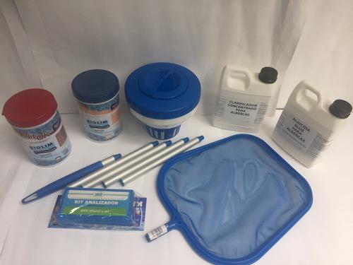 kit mantenimiento limpieza piscinas albercas armables lona
