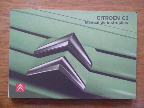 Kit Manual Propriet U00e1rio Original Citroen C3 At U00e9 2012