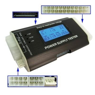 kit manutenção 2 placa diagnóstico teste de fonte pulseira