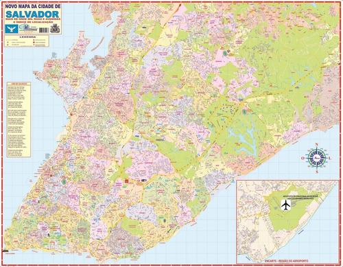 kit mapas gigantes estado da bahia e cidade de salvador