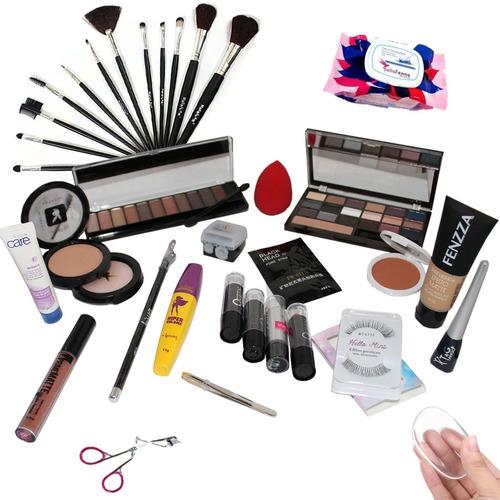 kit maquiagem completa para maletas muitos itens brinde avon