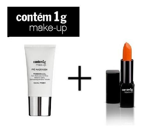 kit maquiagem contém 1g primer + batom