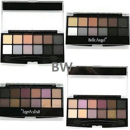 kit maquiagem estojo 12 sombras nude matte + pincel belle