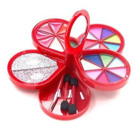 kit maquiagem infantil luisance sombras blush batom pincel