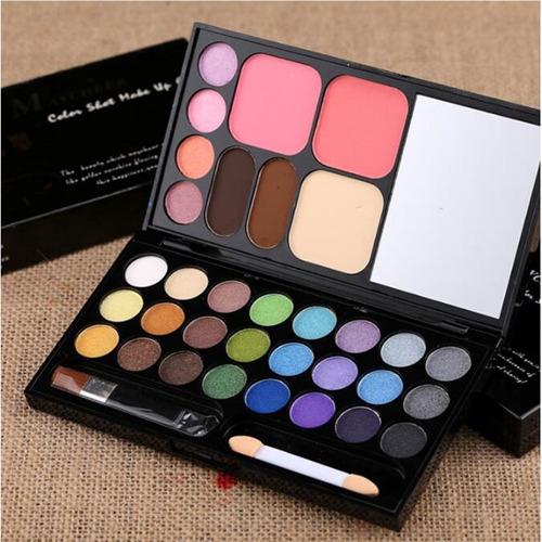 kit maquiagem maycheer 28 cores sombra estojo espelho paleta