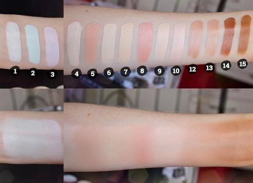 kit maquiagem. paleta base corretivo iluminador jasmyne v669
