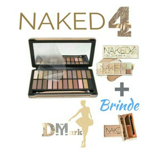 kit maquiagem paleta de sombra+corretivo+brinde naked 4