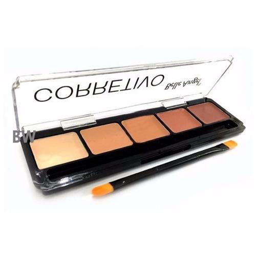 kit maquiagem sombras + corretivo + rimel + 6 batons matte
