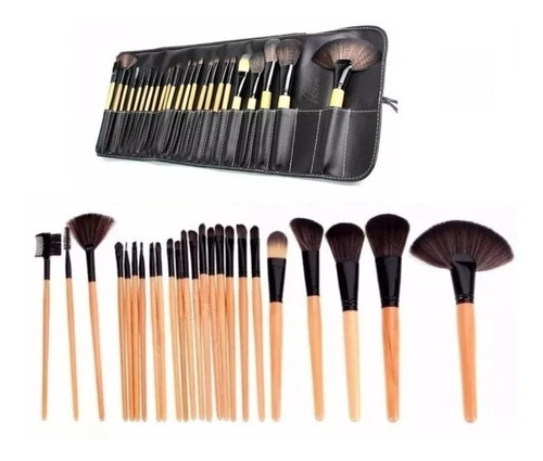 kit maquillaje completo, paletas, manta 24 pinceles, esponja
