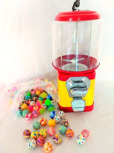 kit máquina + 500 bolinha pula pula 27mm vending machine