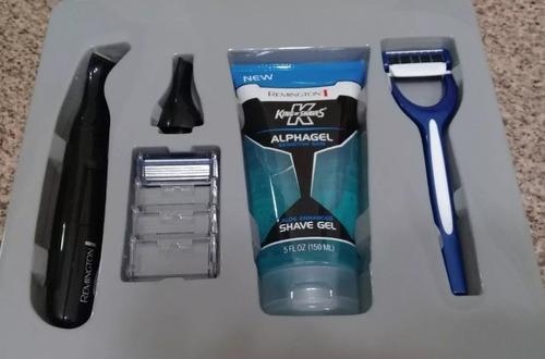 kit maquina afeitadora nariz barba uso personal remington