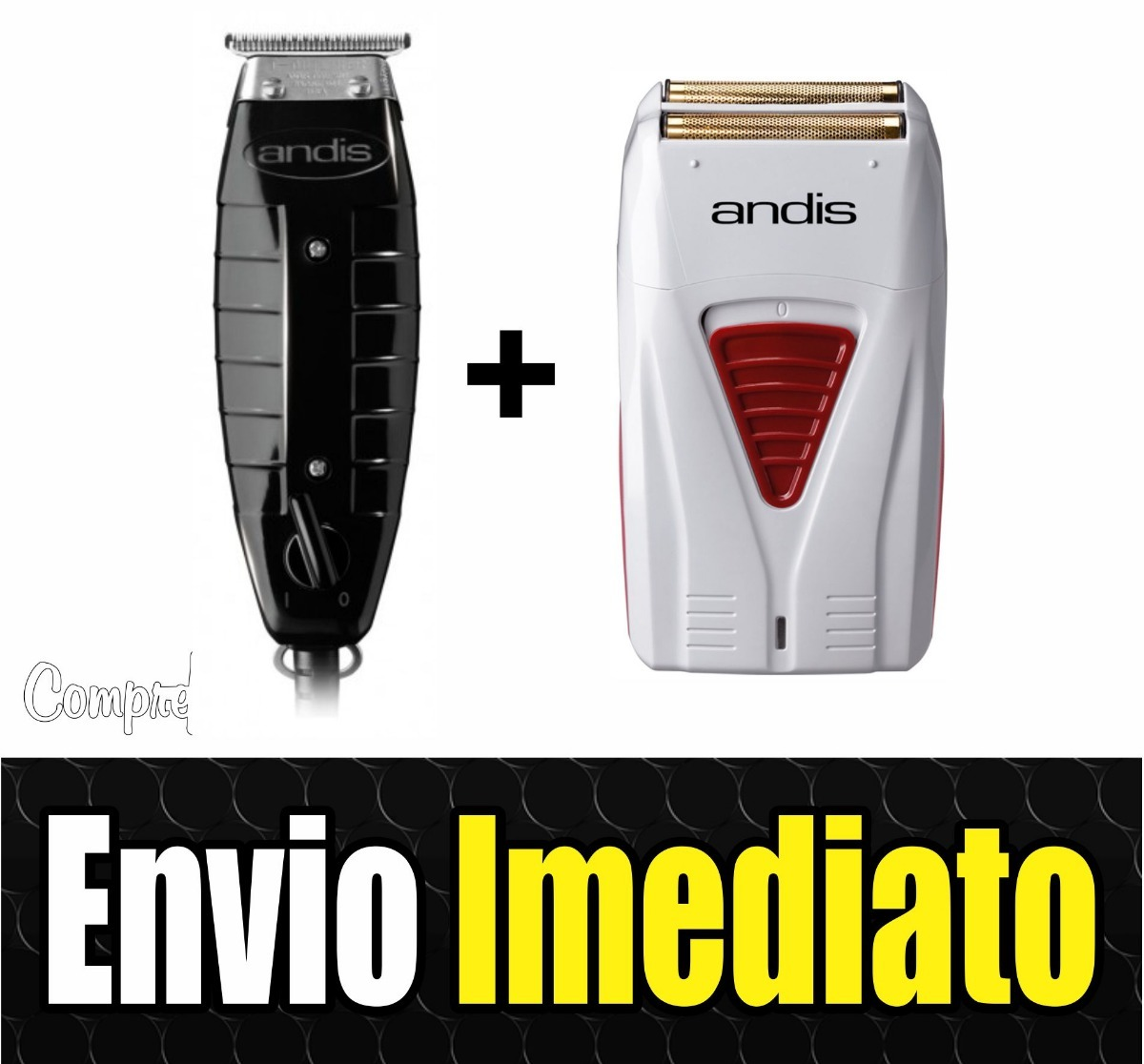 223df5451 Kit Maquina Cabelo Andis Gtx T Outliner + Andis Shaver Profo - R ...