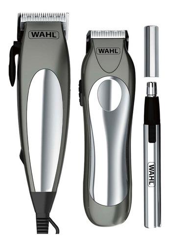 kit maquina cortar pelo y patillera groom pro 21 piezas wahl