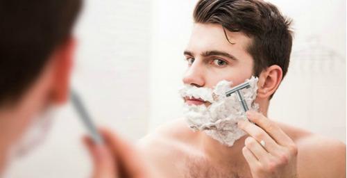 kit maquina de afeitar espuma afeitado regalo + envio gratis
