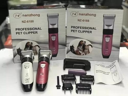 kit maquina de tosa profissional cães pet clipper nz-6188