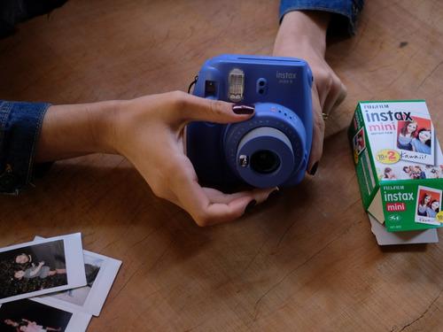 kit máquina fotográfica instax fujifilm mini 9 filme e bolsa