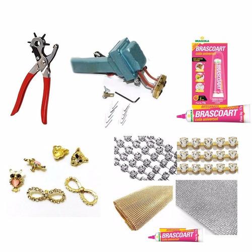 kit maquina frisadora de chinelos - 110v arte de frisar bem
