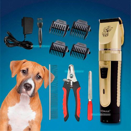 kit maquina recargable corta pelo de mascota perro