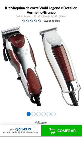 kit maquininha wahl de cortar cabelo