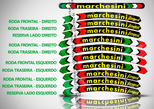 kit marchesini mv agusta f4-1000 cartela adesivos roda friso
