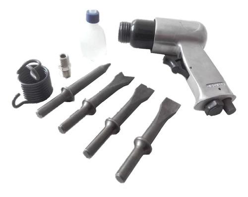 kit martillo cincelador neumatico 9 piezas