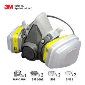 Kit Mascara Antigas 6200 3m Filtro Spray Pintura Gas 7 N 1