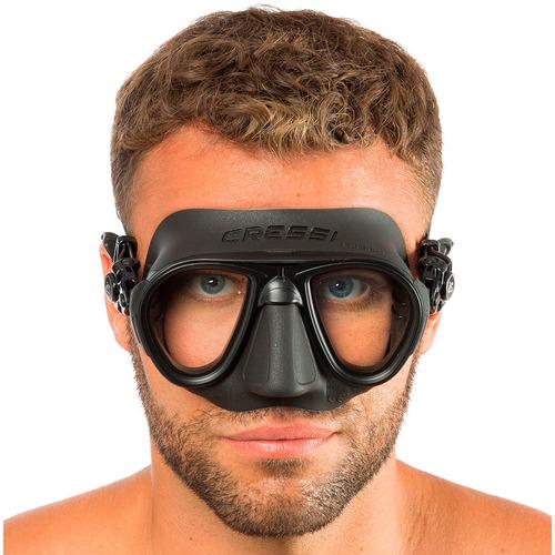 kit máscara pesca sub calibro e snorkel corsica flex cressi