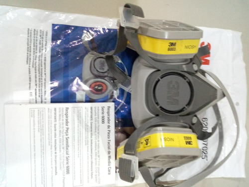 kit mascara respirador 6200 + cartucho adicional envio grati