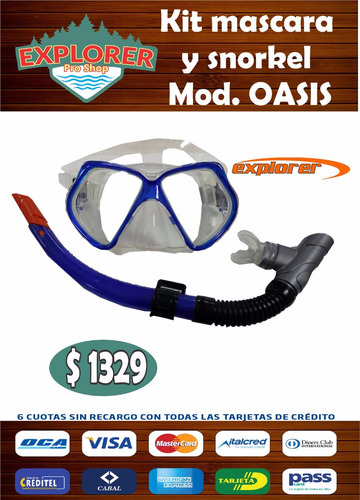 kit mascara y snorkel mod. oasis