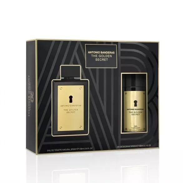 82eabea93a Kit Masculino Antonio Banderas The Golden Secret Corpo - R$ 149,90 em  Mercado Livre
