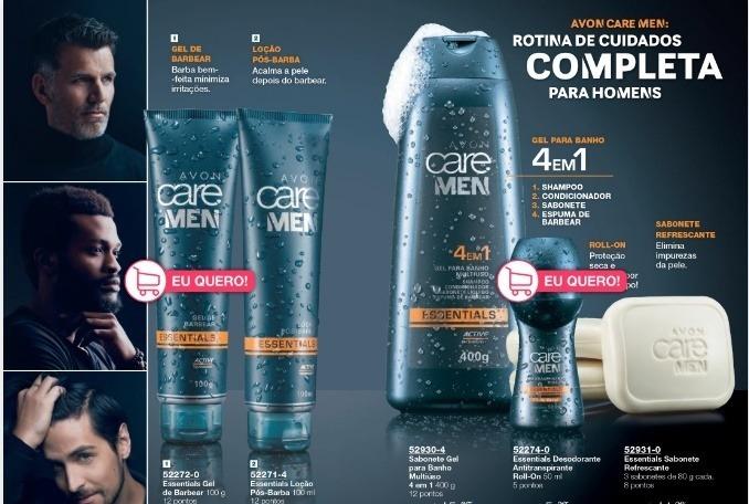 Kit Masculino Avon Care Men Essentials Kit Com 5 Produtos R 4590
