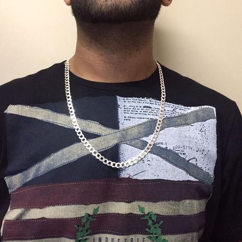 kit masculino presente cordão 1x1 70cm trio brinco prata 925
