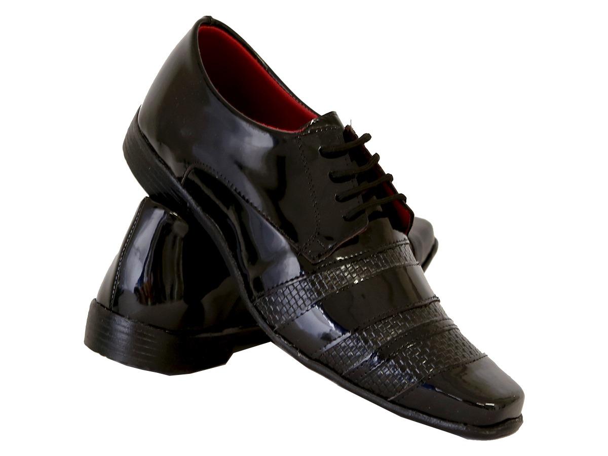 62e580db8 kit masculino sapato social em couro ecológico preto. Carregando zoom.