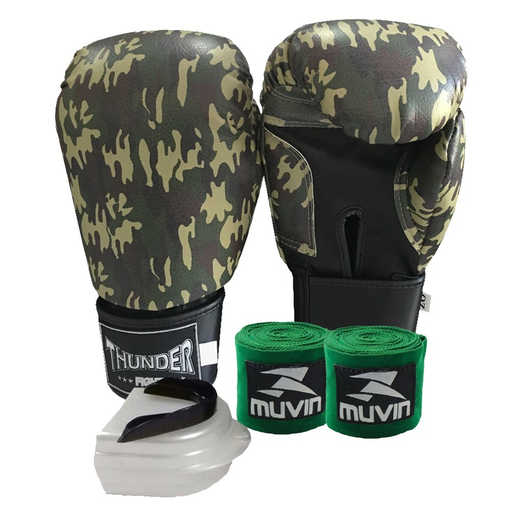 061831b87 kit masculino top muay thai boxe - luva 16oz bandagem bucal. Carregando  zoom.