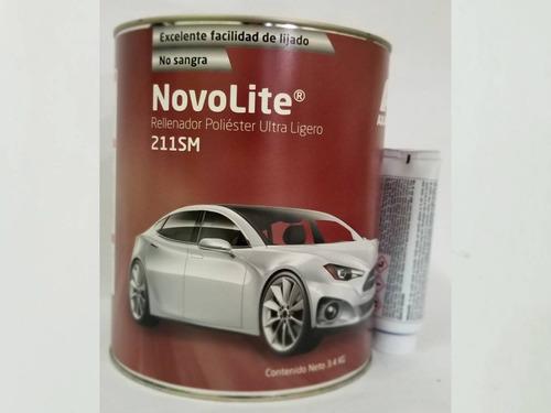 kit masilla plástica automotriz novolite 211sm axalta