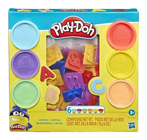 kit massinha de modelar play doh letras hasbro