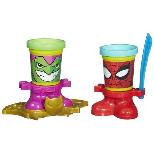 kit massinha play doh homem aranha spider man hasbro b0744