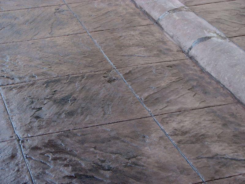 Kit material 100 m2 concreto estampado colores oscuros for Cemento estampado precio