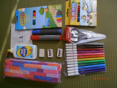 kit material escolar b - 11 itens