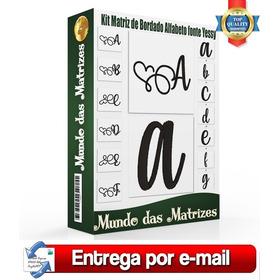 Kit Matriz De Bordado Alfabeto Fonte Yessy