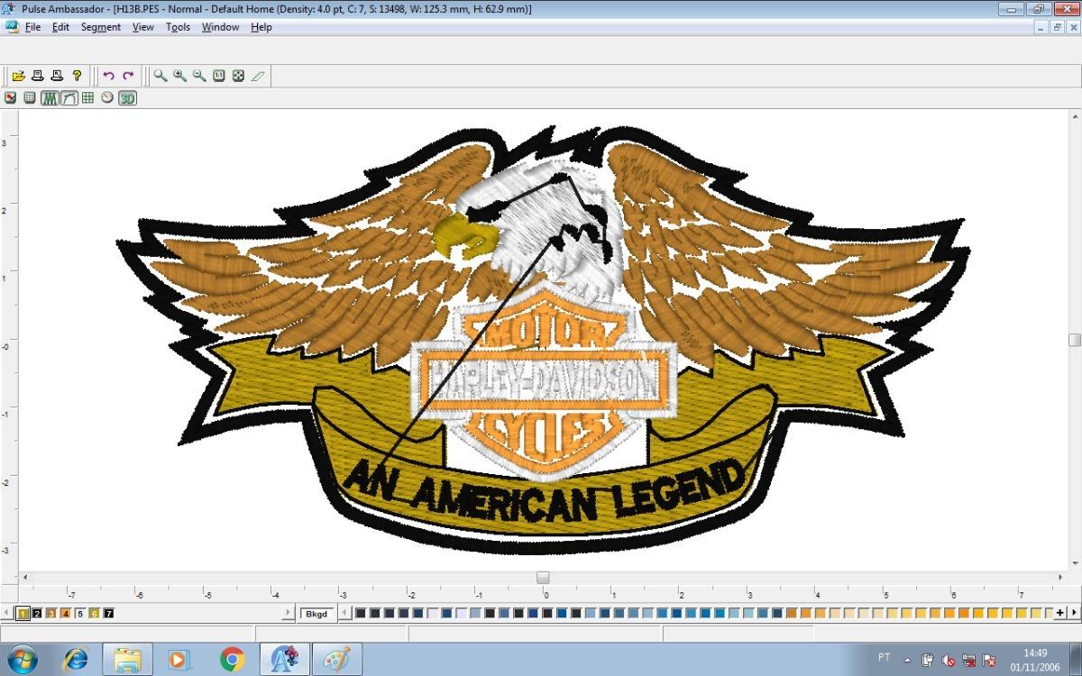 Kit Matriz De Bordado Harley Davidson - Via Download - R$ 7