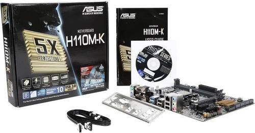 kit mb asus h110m-k + proc. i7 7700 + memoria 16gb na caixa