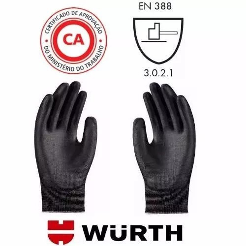 Kit Mecanico Oculos Luva Segurança Proteção Epi Norma Wurth - R  58 ... 7941a3ff30