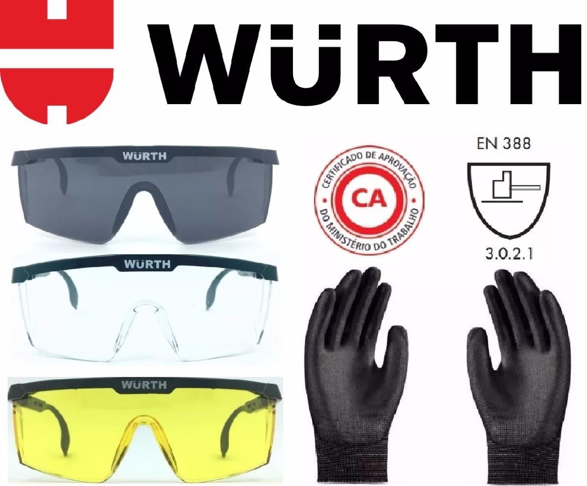 kit mecanico oculos luva segurança proteção epi norma wurth. Carregando  zoom. 6cf52bf485