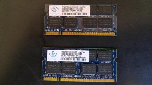 kit memória 4gb ( 2x2 gb) ddr2 800mhz pc6400 sodimm notebook