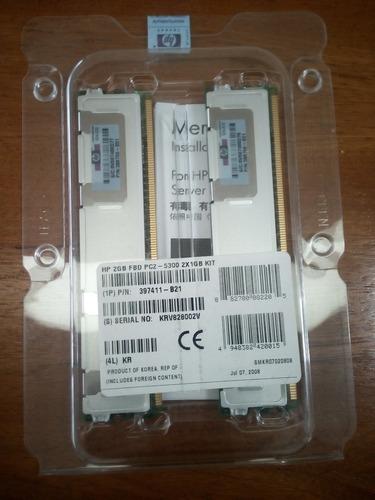 kit memoria hp 2 gb pc2-5300 (2x1gb) servidor ml350 dl380 g5