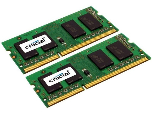 kit memoria ram 8gb 2x4gb ddr3-1600mhz sodimm crucial mac/pc