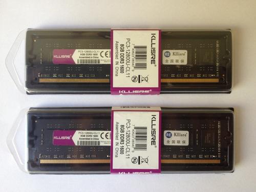 kit memória ram ddr3 16gb (2x 8gb) 1600mhz intel e amd