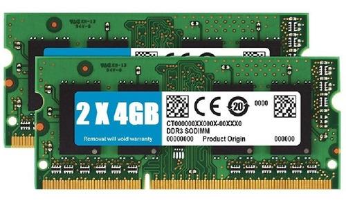 kit memorias ddr3 8gb (2x4gb) 1600mhz notebook macbook pro