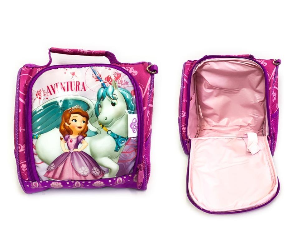 c7e3e13b2 kit menina princesa sofia mochila costas lancheira estojo. Carregando zoom.
